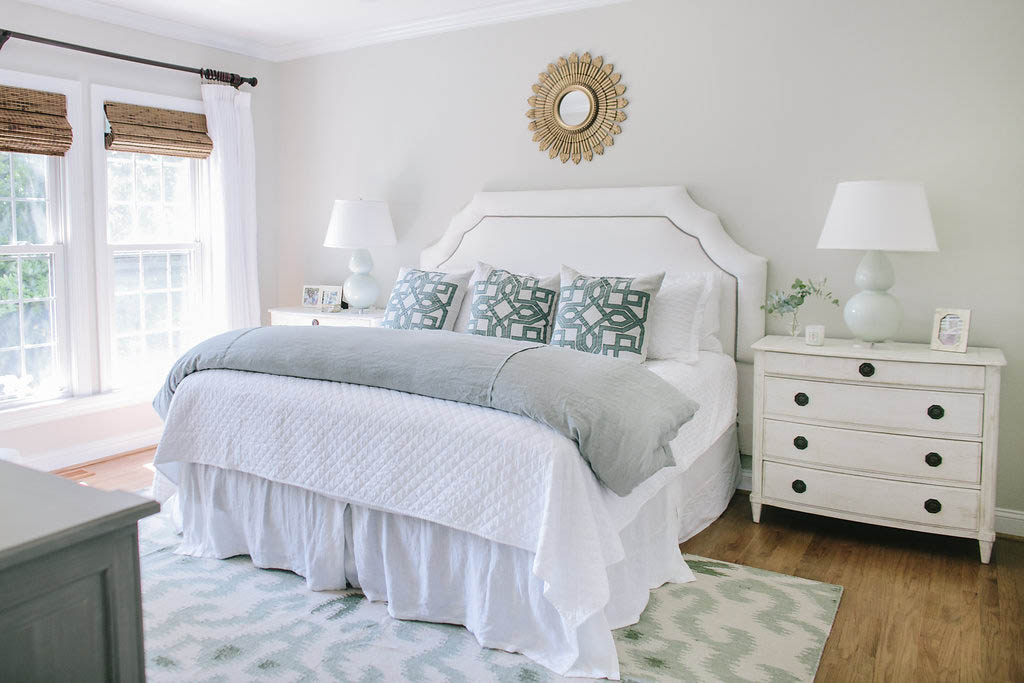 classic contemporary coastal colors for master bedroom
