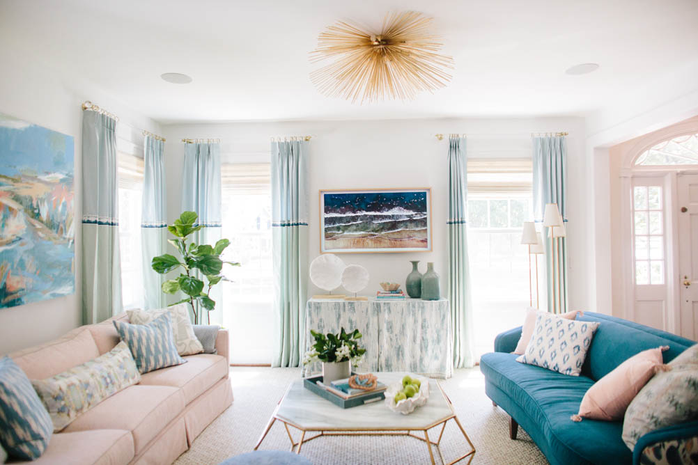 best coastal white paint for high end coastal living room design