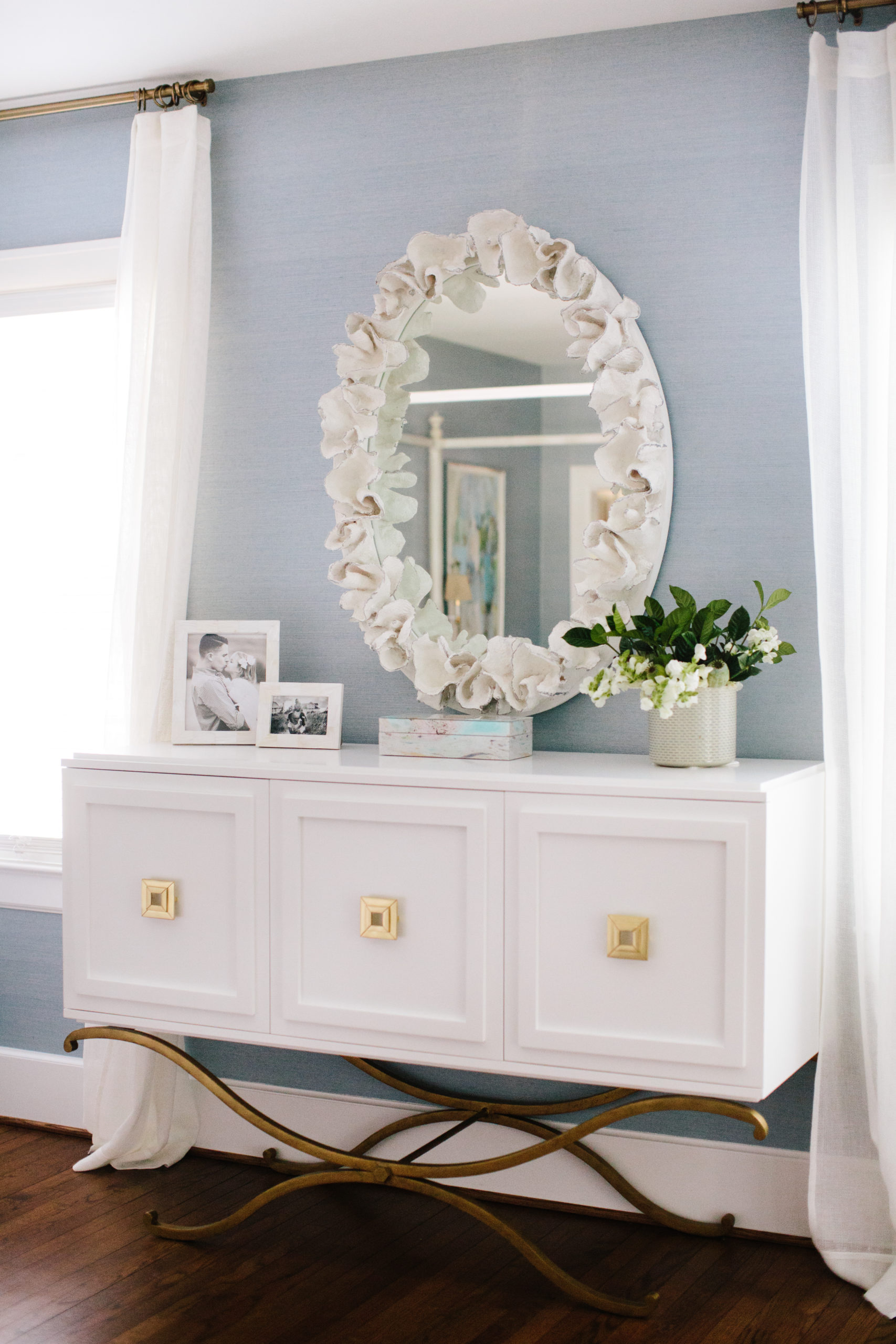 after photo of designer bedroom vanity white