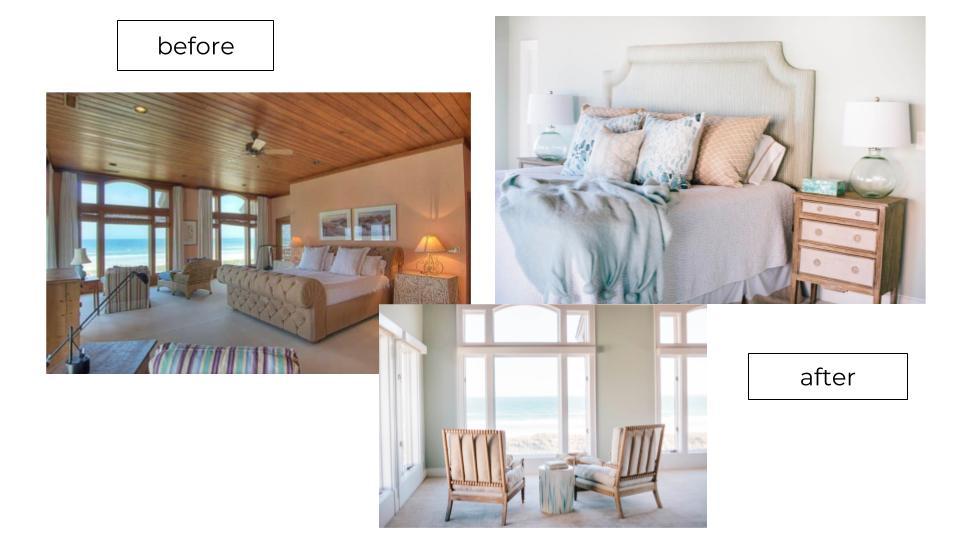 master bedroom remodel with ocean view