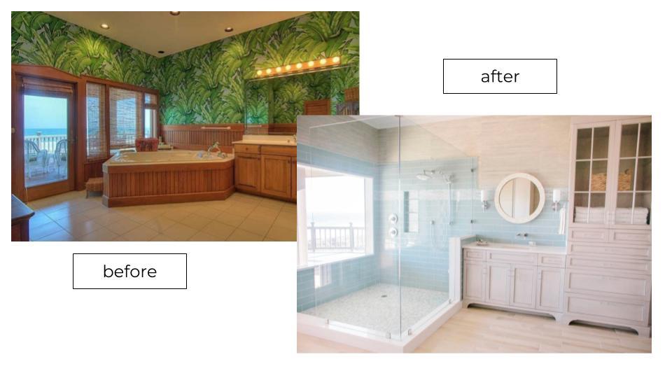 interior designer coastal bathroom remodel