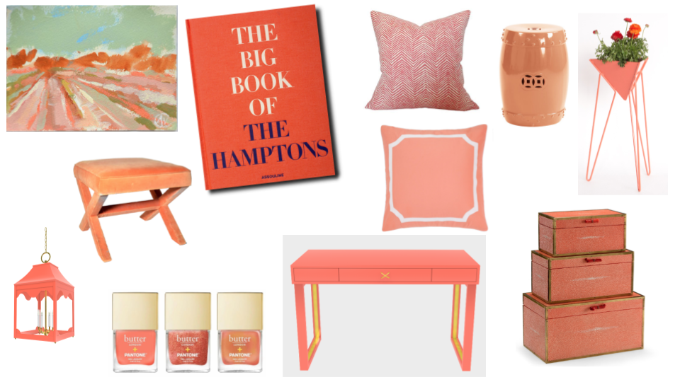 2019 pantone color of the year montage of interior design items