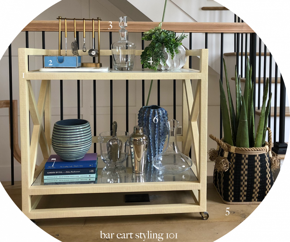 Tips and Tricks: How To Style A Bar Cart