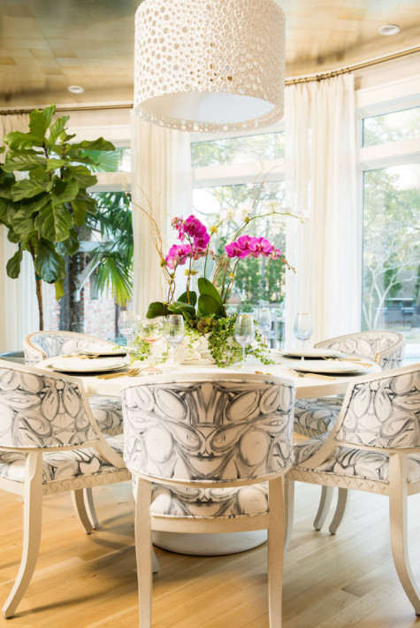 wilmington-nc-dining-table-patterned-chairs