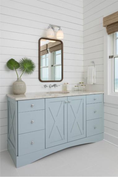 barn-door-bathroom-cabinet-sink-drawers-powder-blue-shiplap
