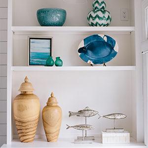 Coastal Bookshelf