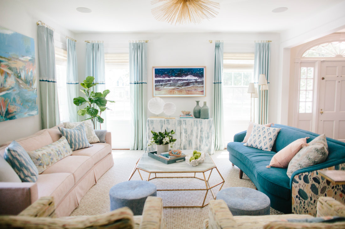 gathered-interior-design-pink-teal-couches-2