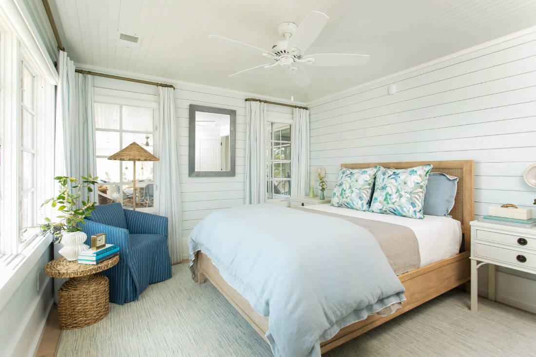 gathered-interior-design-shiplap-wall-bedroom
