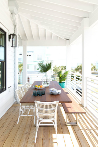 outdoor-dining-table-bench-carolina-beach-nc
