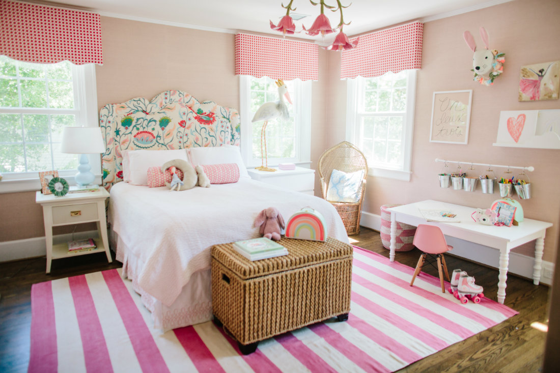 striped-pink-white-rug-girls-bedroom-wilmington-nc