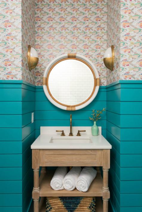 teal-shiplap-walls-wallpaper-bathroom-sink