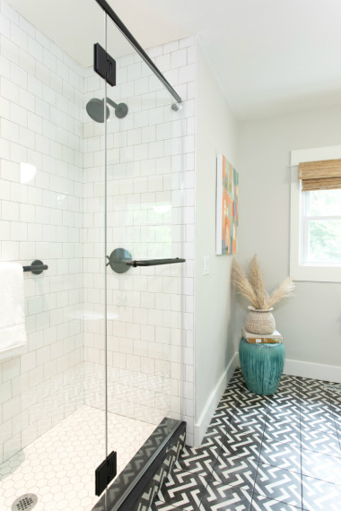 glass-shower-door-tile-floor-bathroom-chapel-hill-nc