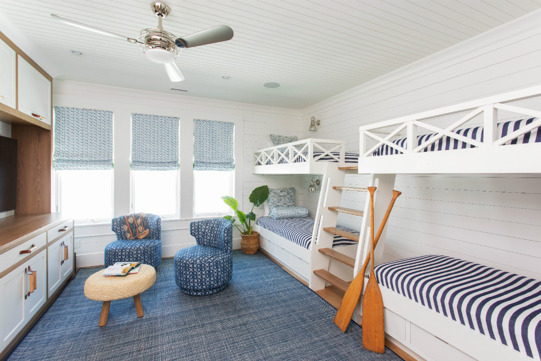 kids-bedroom-four-bunk-beds-beach-house-design-wrightsville-beach-nc