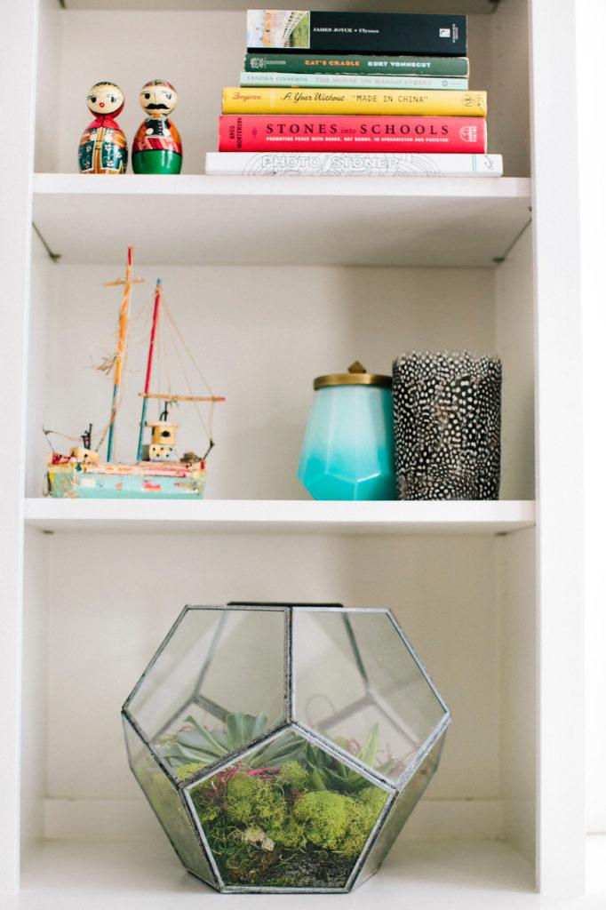 Greenery Succulents Bookshelf Gathered Interior Design