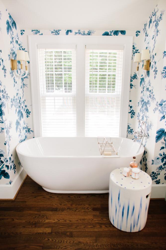 Bathroom Tub Wallpaper Interior Design Gathered Nc