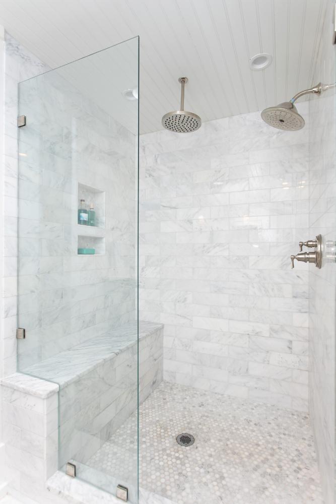 Gathered Interior Design Bathroom Shower Tile Design