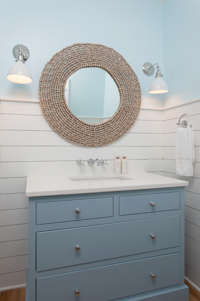 Blue Drawers Bathroom Design Beach House