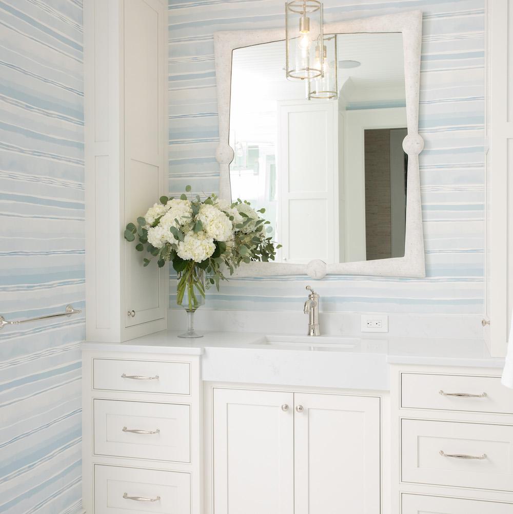 Benjamin Moore White Heron Paint Color Bathroom Cabinets Gathered Interior Design 1