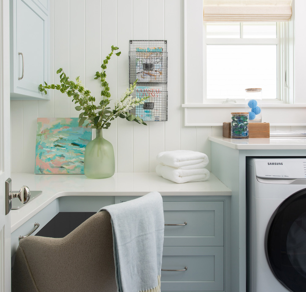 Gathered Interior Design Laundry Room Paint Colors