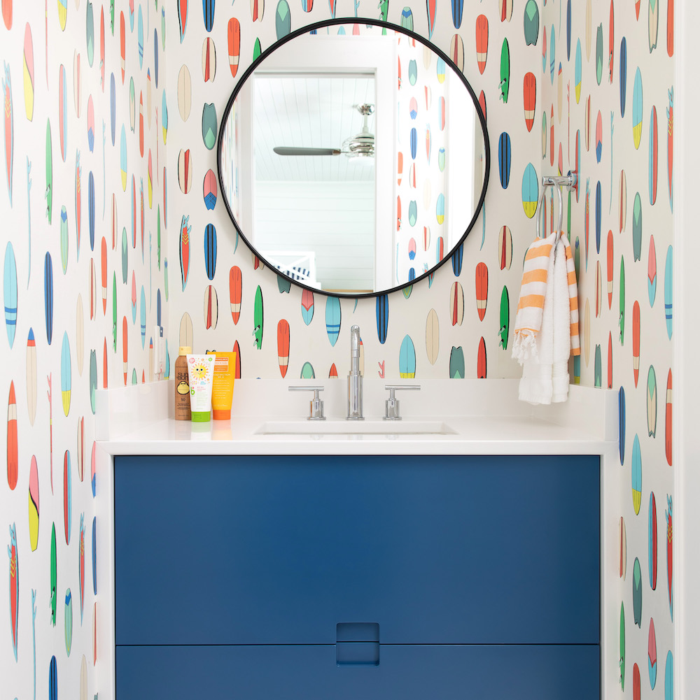 Jack And Jill Bathroom Paint Color Benjamin Moore Prussian Blue Cabinets