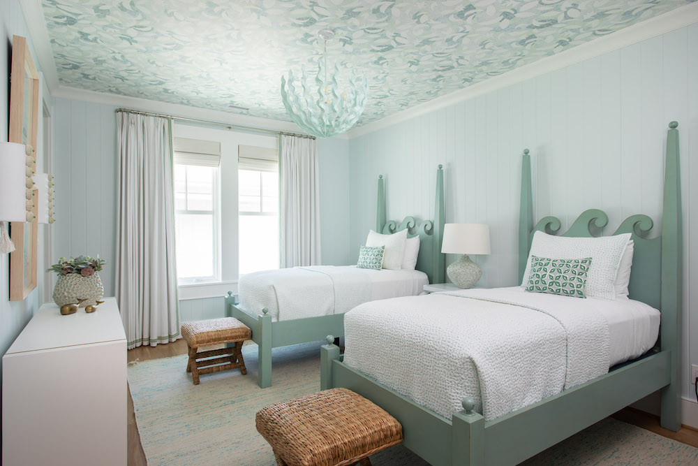 Tranquil Blue Bedroom Paint Color Gathered Interior Design 1