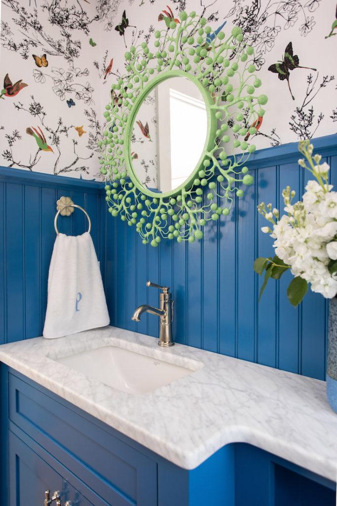 Wainscoting Powder Room Interior Design