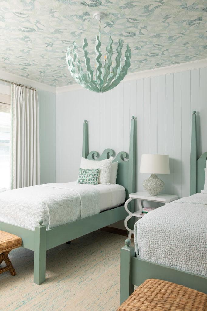 Wallpaper Ceiling Gathered Interior Design 1